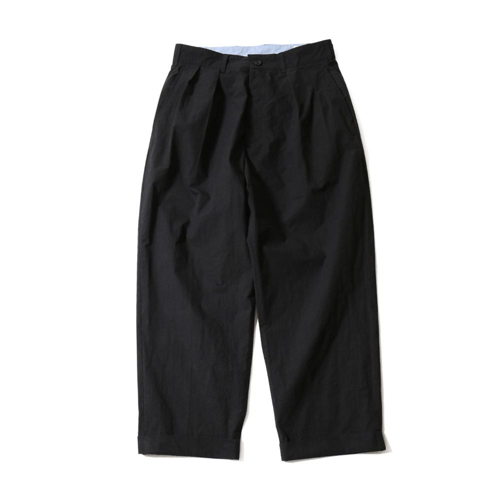 HORLISUNLaurier Typewriter Wide Pants(Navy)