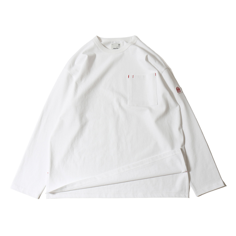 HORLISUNUnisex Lawrence Overfit Pocket T(White)