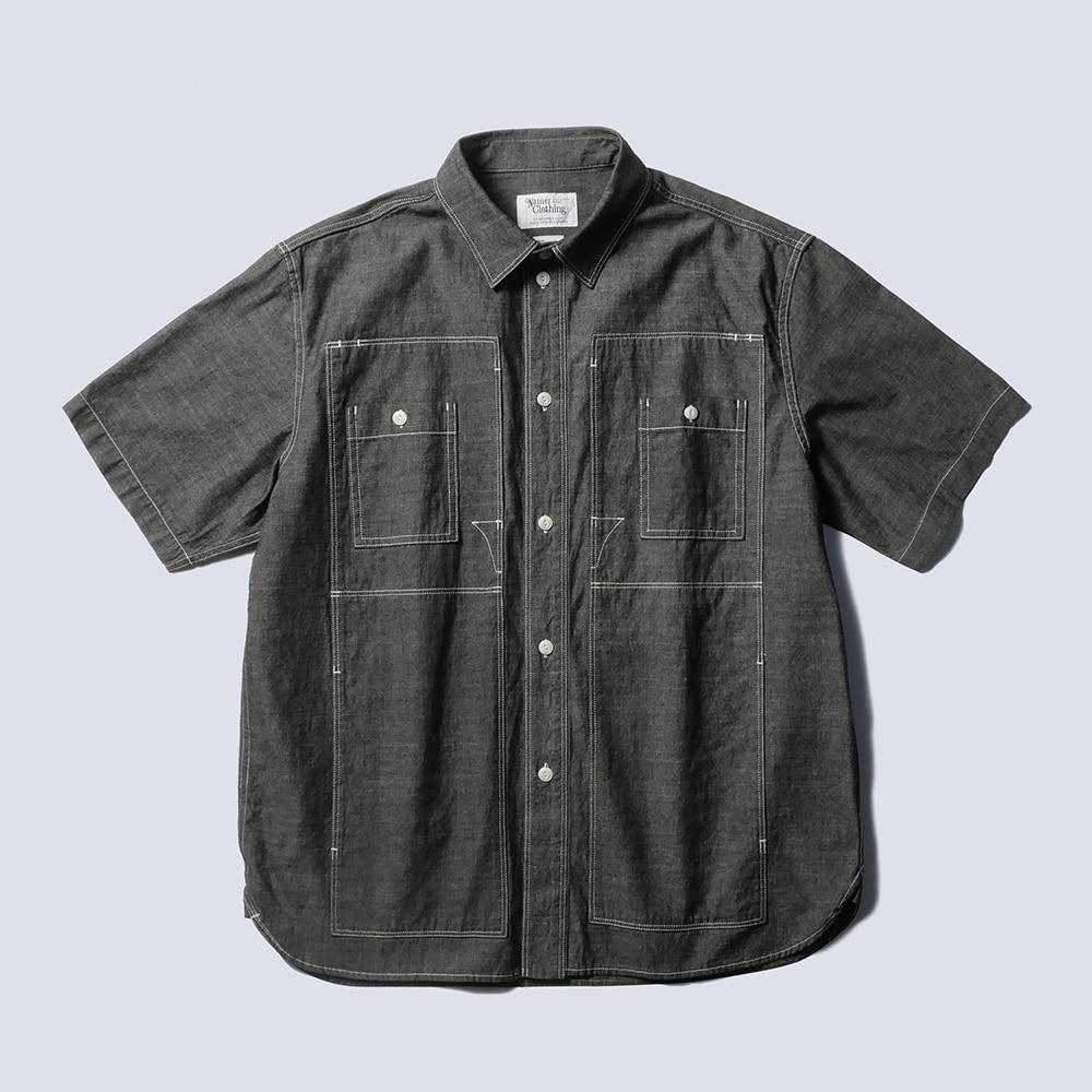 NAMER CLOTHINGUtility Shirts 1/2(Black)
