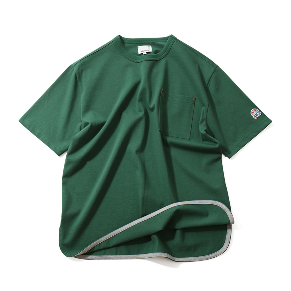 HORLISUN*RESTOCK*Unisex Emery Short Sleeve Pocket T(Green)