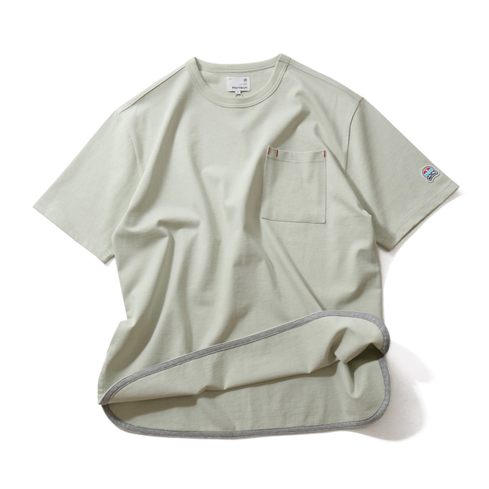 HORLISUN*RESTOCK*Unisex Emery Short Sleeve Pocket T(Light Green)