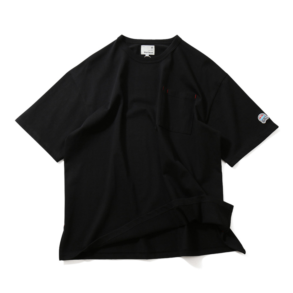 HORLISUNUnisex Lawrence Overfit Short Sleeve Pocket T(Black)