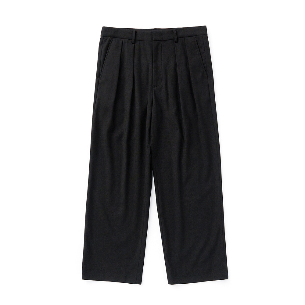 ESFAITuck Wide Slacks(Black)