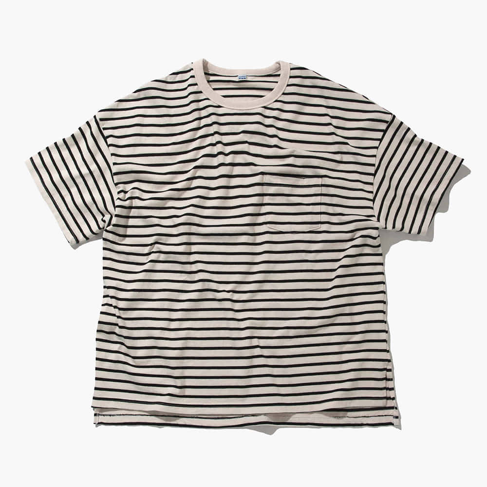 SOFTURBorder T Shirt(Black/Beige)