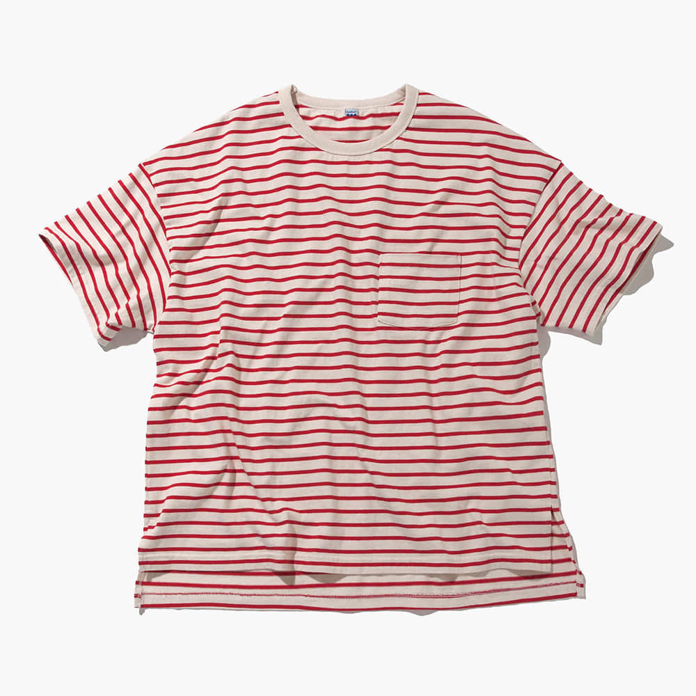 SOFTURBorder T Shirt(Red/Beige)