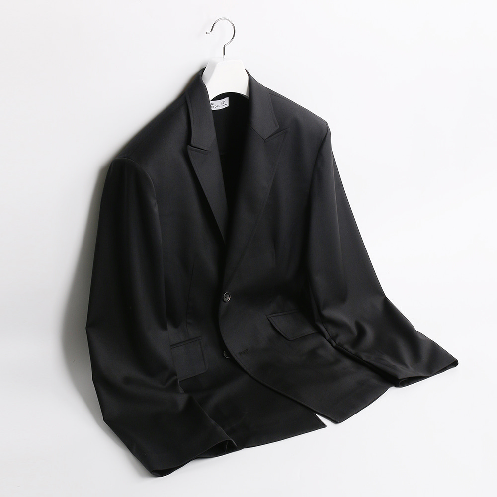 ATE STUDIOOver Lap Wool Single Jacket(Black)