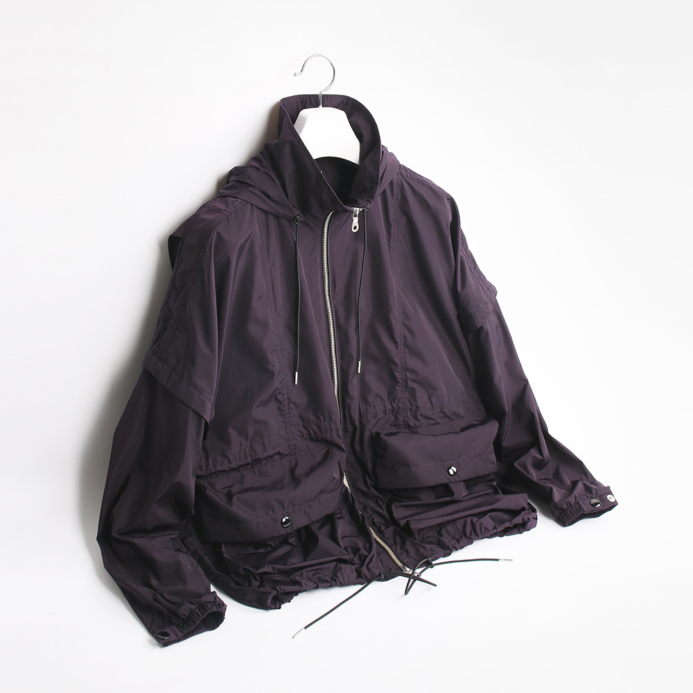 ATE STUDIOVolume Hooded Cover Jacket(Purple)