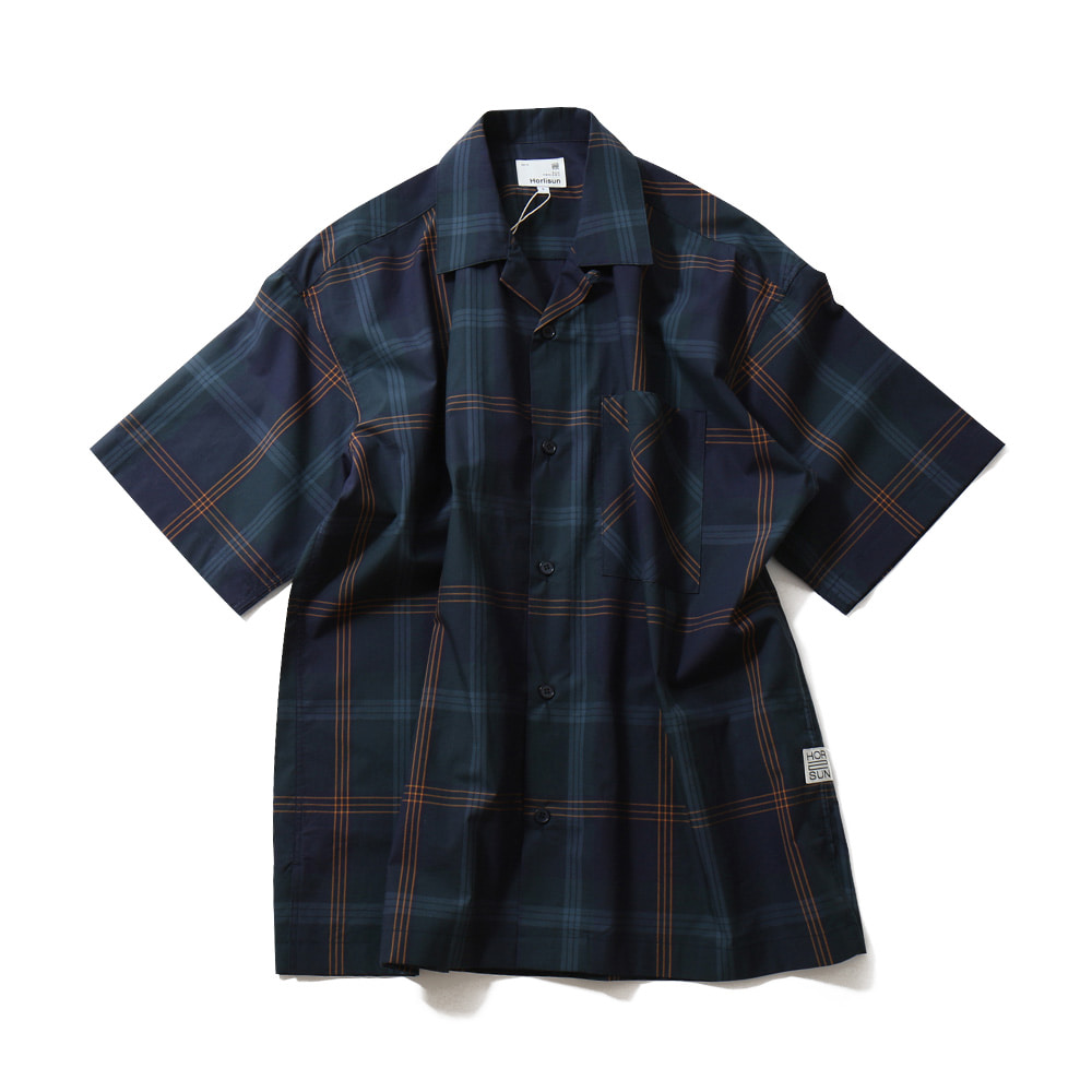 HORLISUNOphir Various Multi Check Loosefit Shirts(Navy)