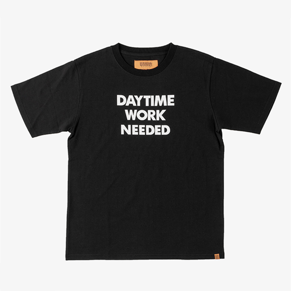 UNIVERSAL OVERALLDaytime Nightime Graphic T(Black)
