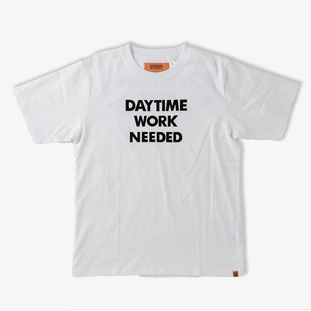 UNIVERSAL OVERALLDaytime Nightime Graphic T(White)20% Off