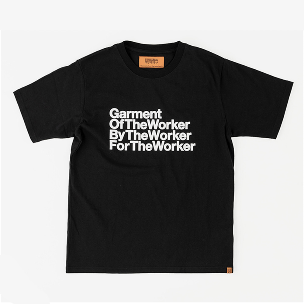 UNIVERSAL OVERALLUnisex The Worker  Graphic T(Black)20% Off