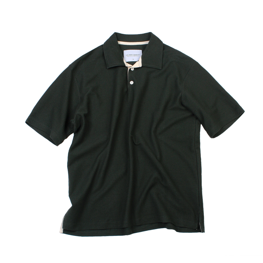 YOU NEED GARMENTSOversized French Terry Polo(Green)
