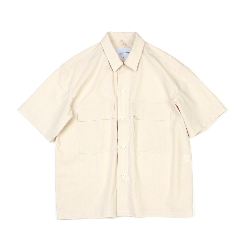 YOU NEED GARMENTSRegular 60's Shirt(Beige)