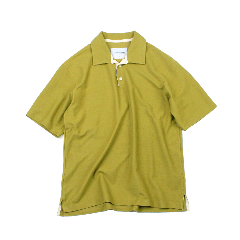 YOU NEED GARMENTSOversized French Terry Polo(Lime)