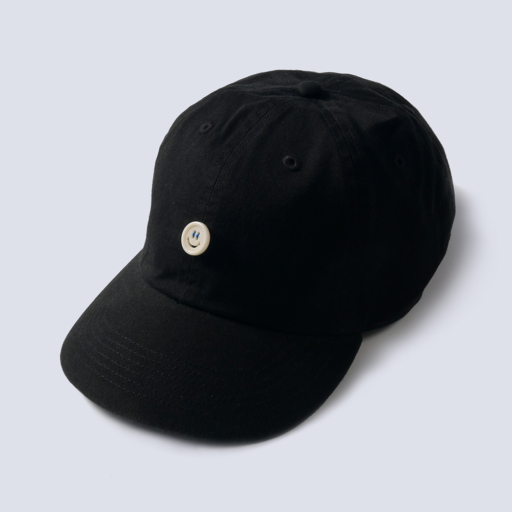 NAMER CLOTHING x TEXT SLNC*PREORDER*Smile Button Cotton Cap(Black)