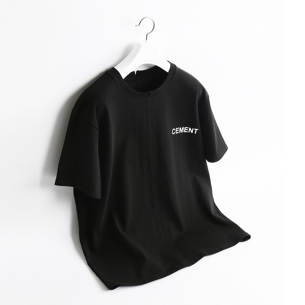 ATE STUDIOCement Printed T Shirts(Black)