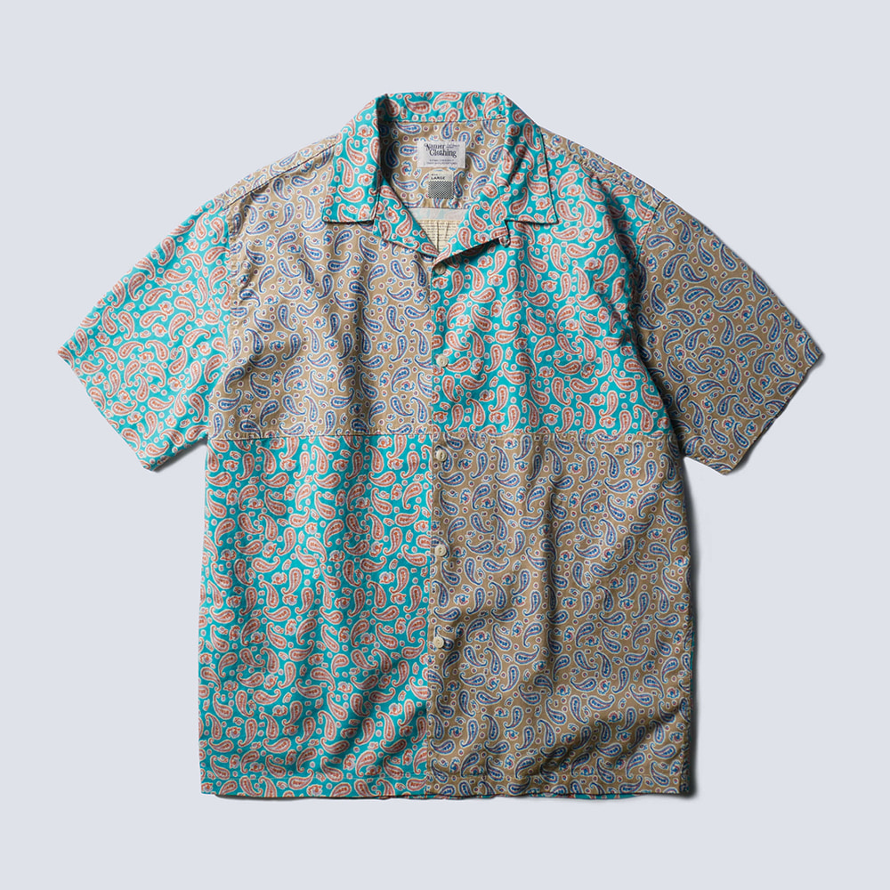 NAMER CLOTHINGPaisley Open Collar Shirts(Mix)20% Off