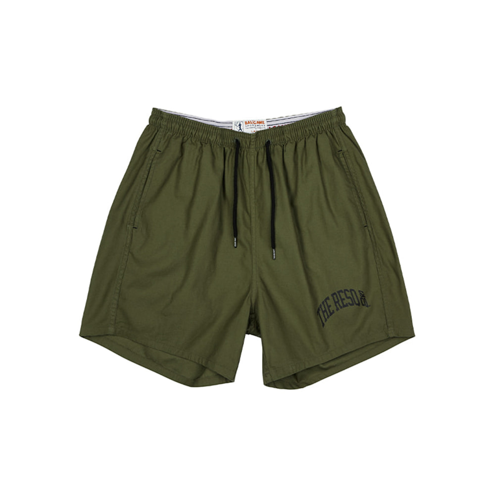 THE RESQ & COBallgame Training Shorts(Olive Green)