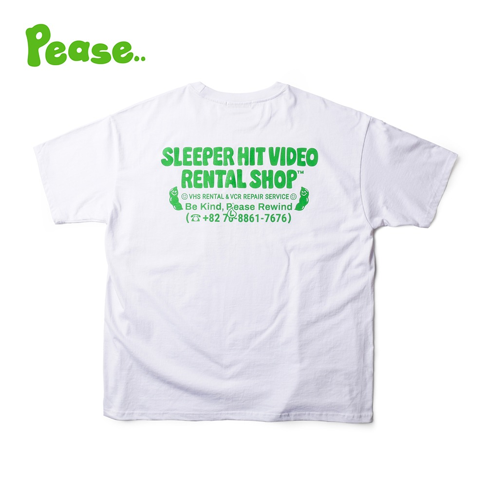 SLEEPER HIT VIDEOS.H.V. Pease T Shirts(Green)