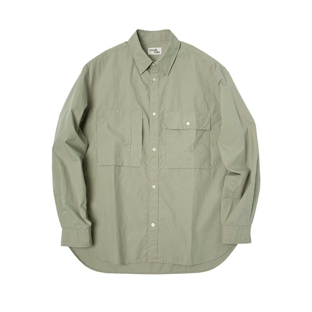 ROUGH SIDE110.Officer Shirt(Pale Moss)