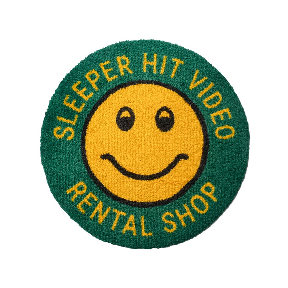 SLEEPER HIT VIDEO for MSK SHOP*RESTOCK*S.H.V. Smiley Rug(Green)