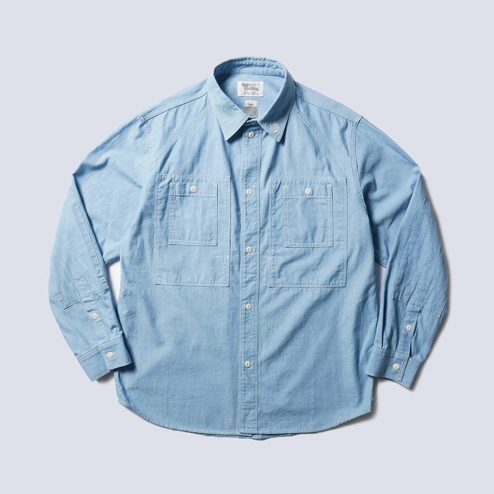 NAMER CLOTHINGBluer Utility Shirts(Sky Blue)