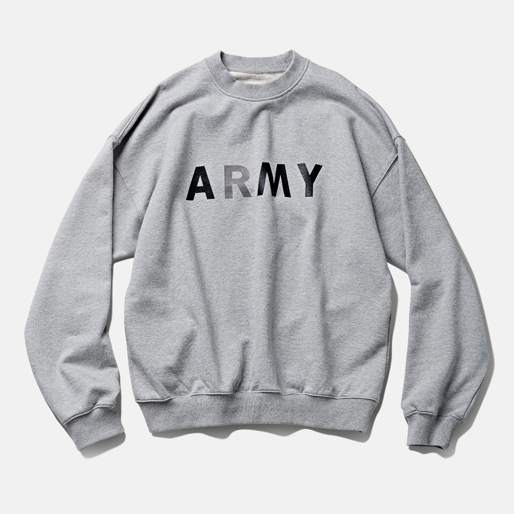 DEUTERO*RESTOCK*DTR194190s ARMY Sweat Shirts(Melange Grey)