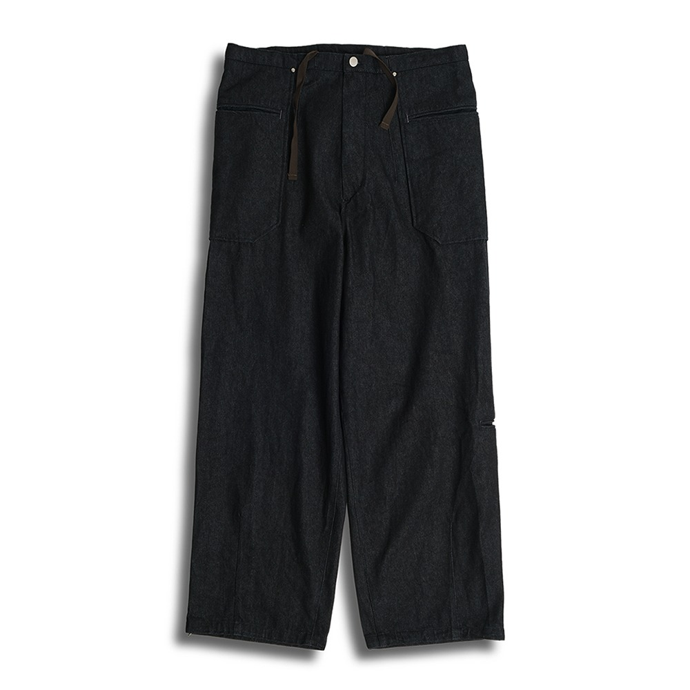POLYTERULiso Pants Denim(Black)