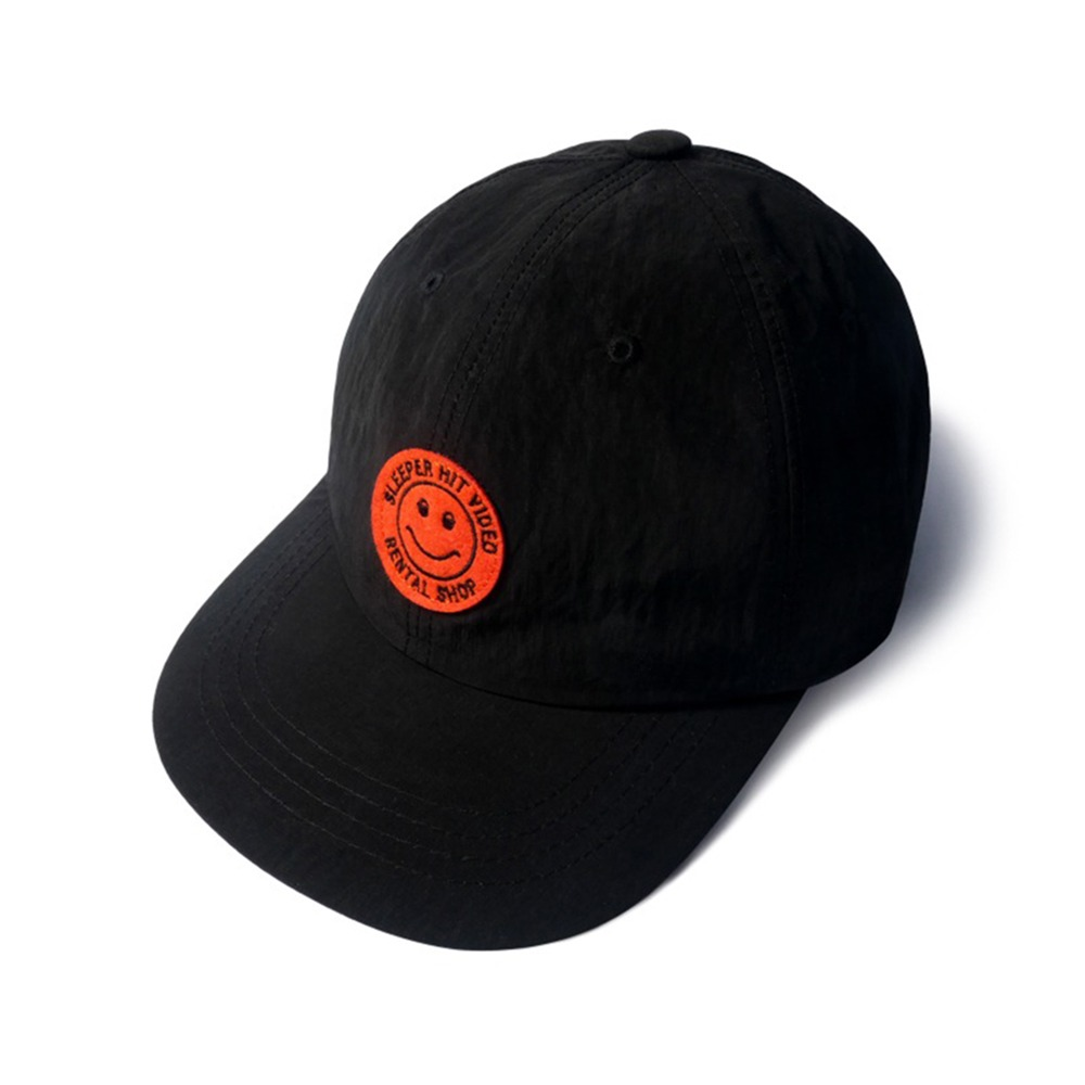SLEEPER HIT VIDEOS.H.V. Smiley Cap(Black)