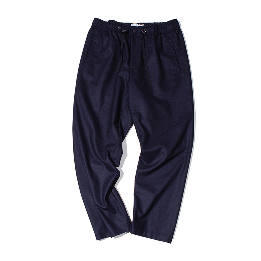 OUR SELVESFine Wool Wide Slumber Pants(Dark Navy)