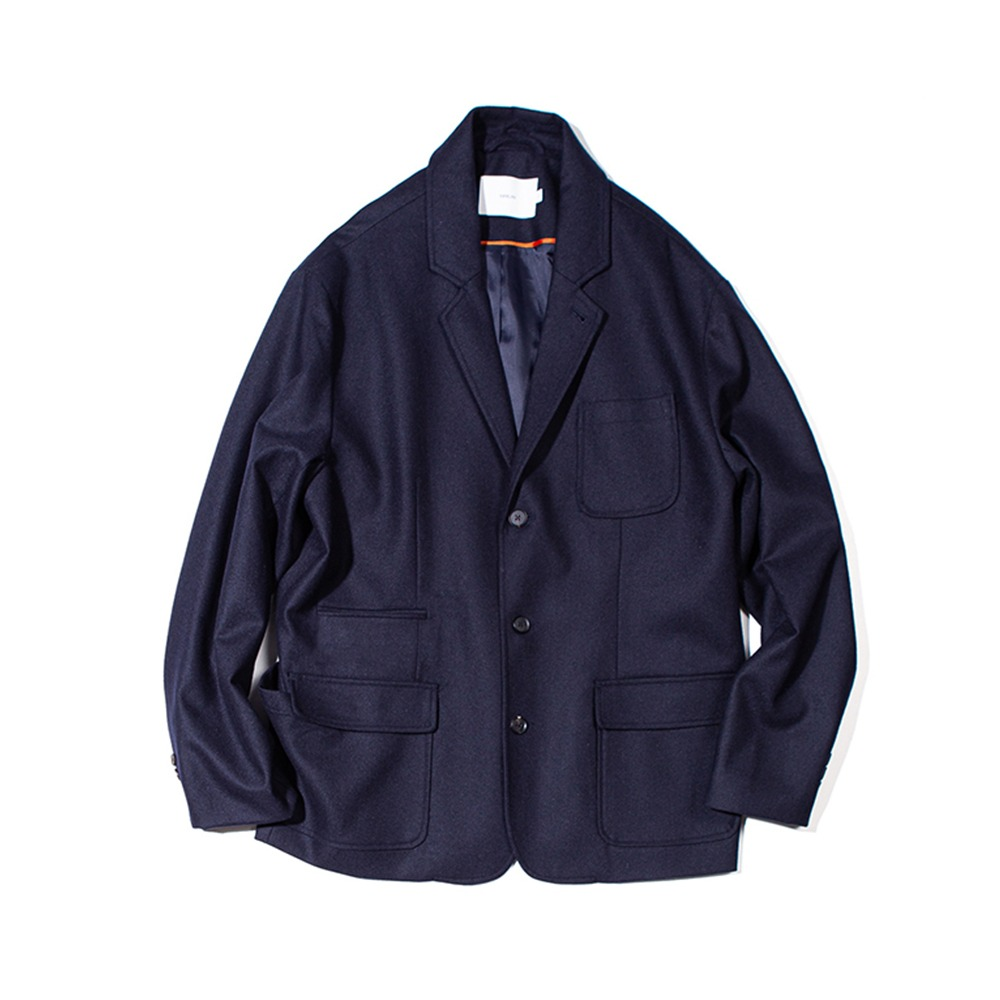 OUR SELVESFine Wool Slumber Jacket(Dark Navy)