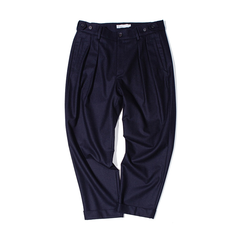 OUR SELVESFine Wool Tapered Slumber Pants(Dark Navy)