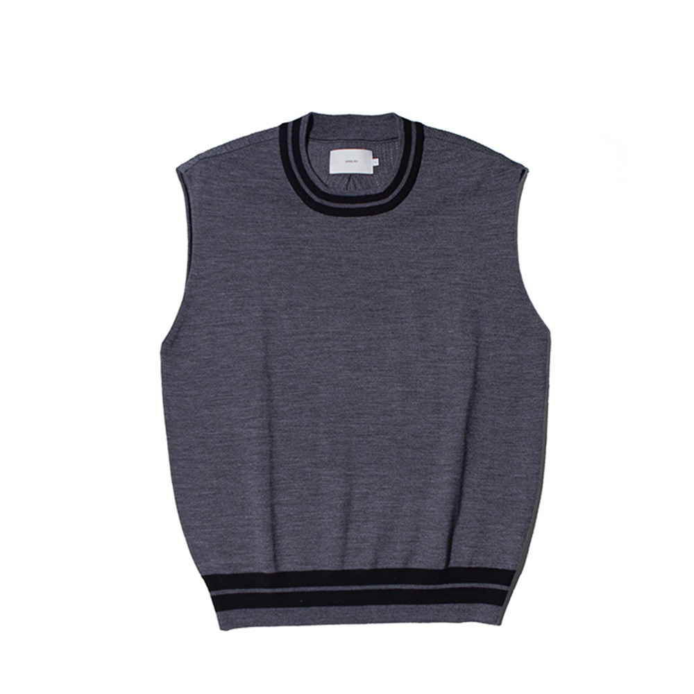 OUR SELVESUnlike Wool Knit Vest(Charcoal)