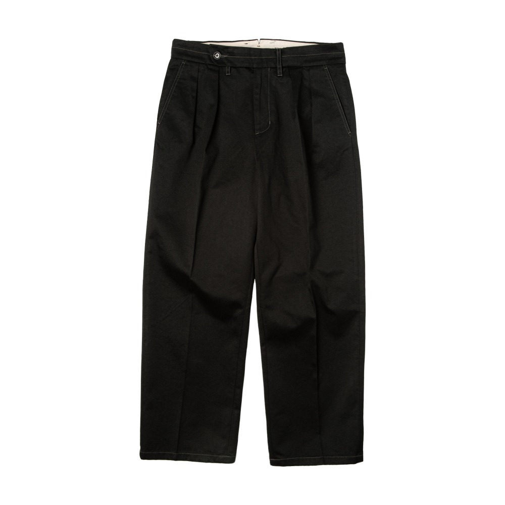 ROUGH SIDE509. 2 Tuck Chino Pants(Black)