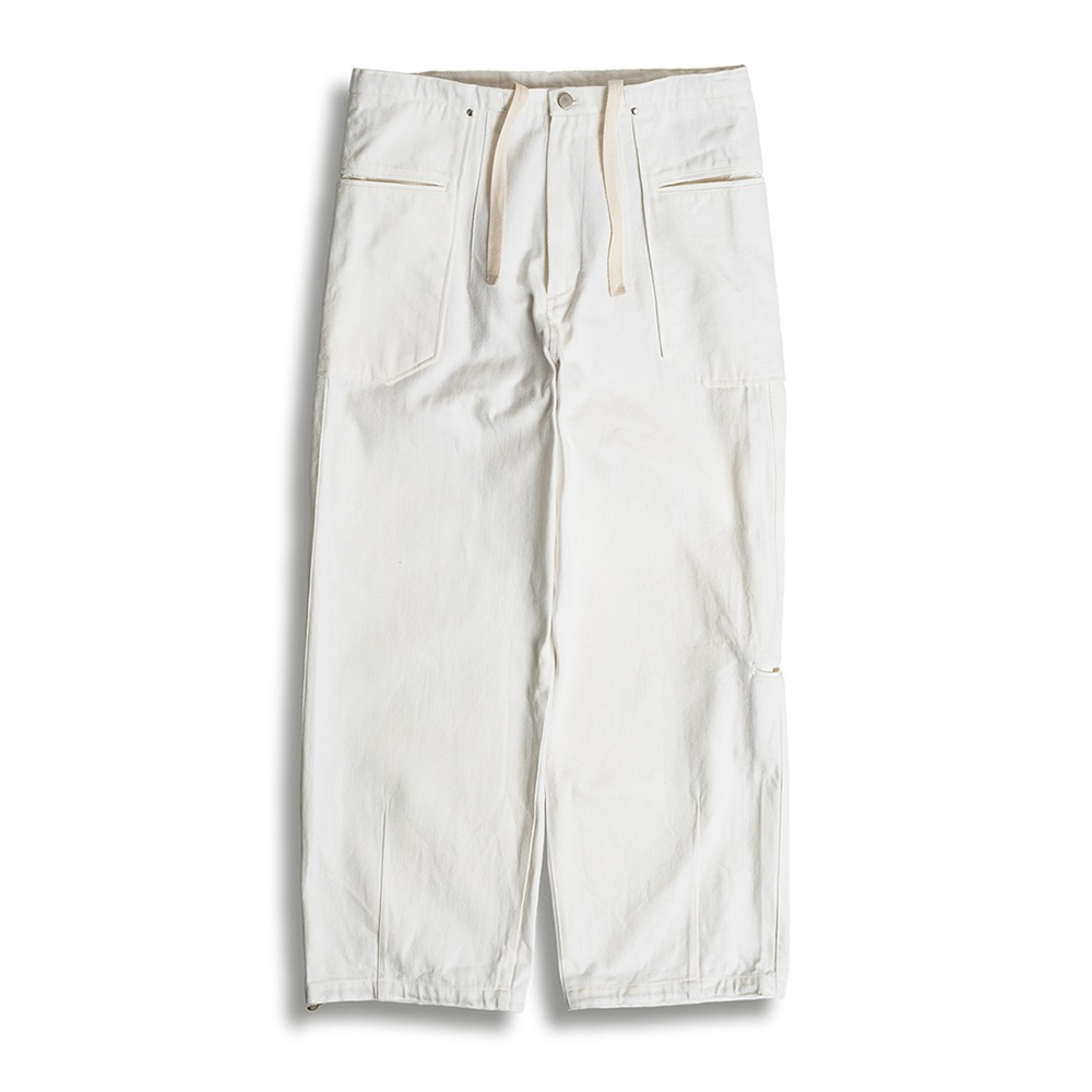 POLYTERULiso Pants Denim(White)