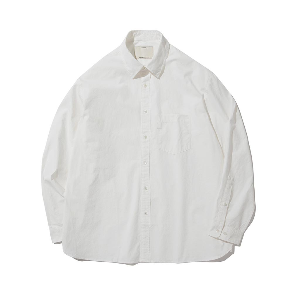 POTTERYComfort ShirtSupima Cotton 80/2 High Density Oxford Resilient Finish(White)
