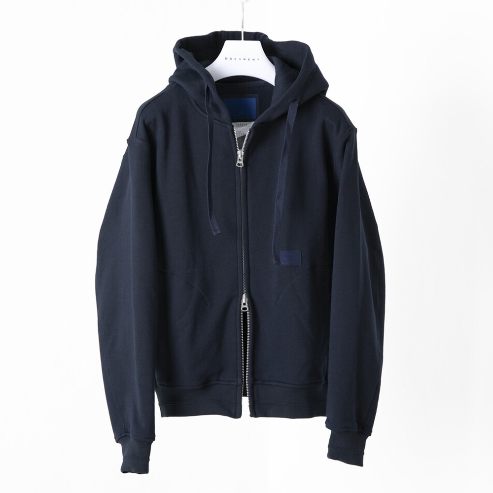 DOCUMENTHooded Heavy Weight Zip Up Jersey(Navy)