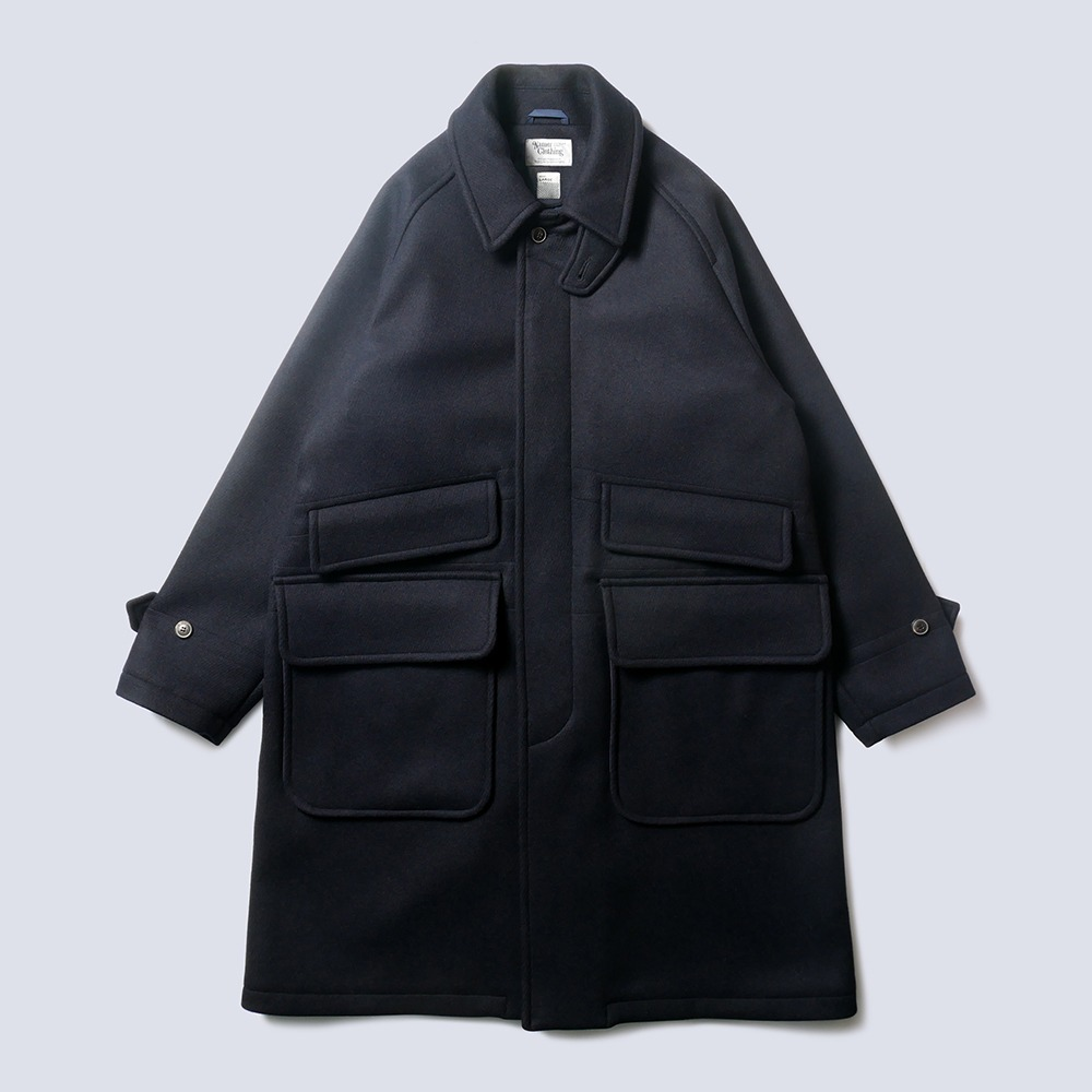 NAMER CLOTHINGUtility Balmacaan Coat(Navy)