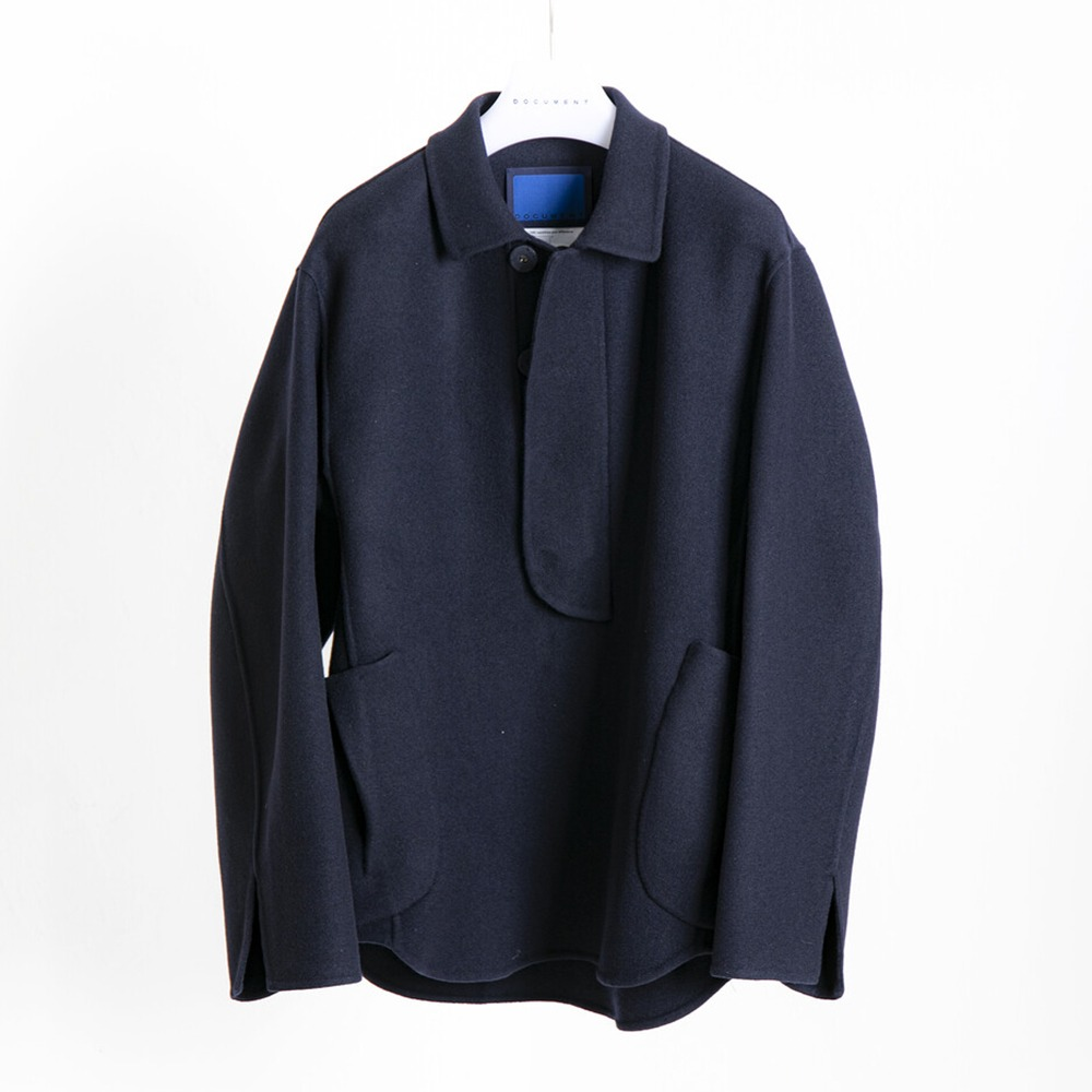 DOCUMENTHand Made Shirting Jacket(Navy)