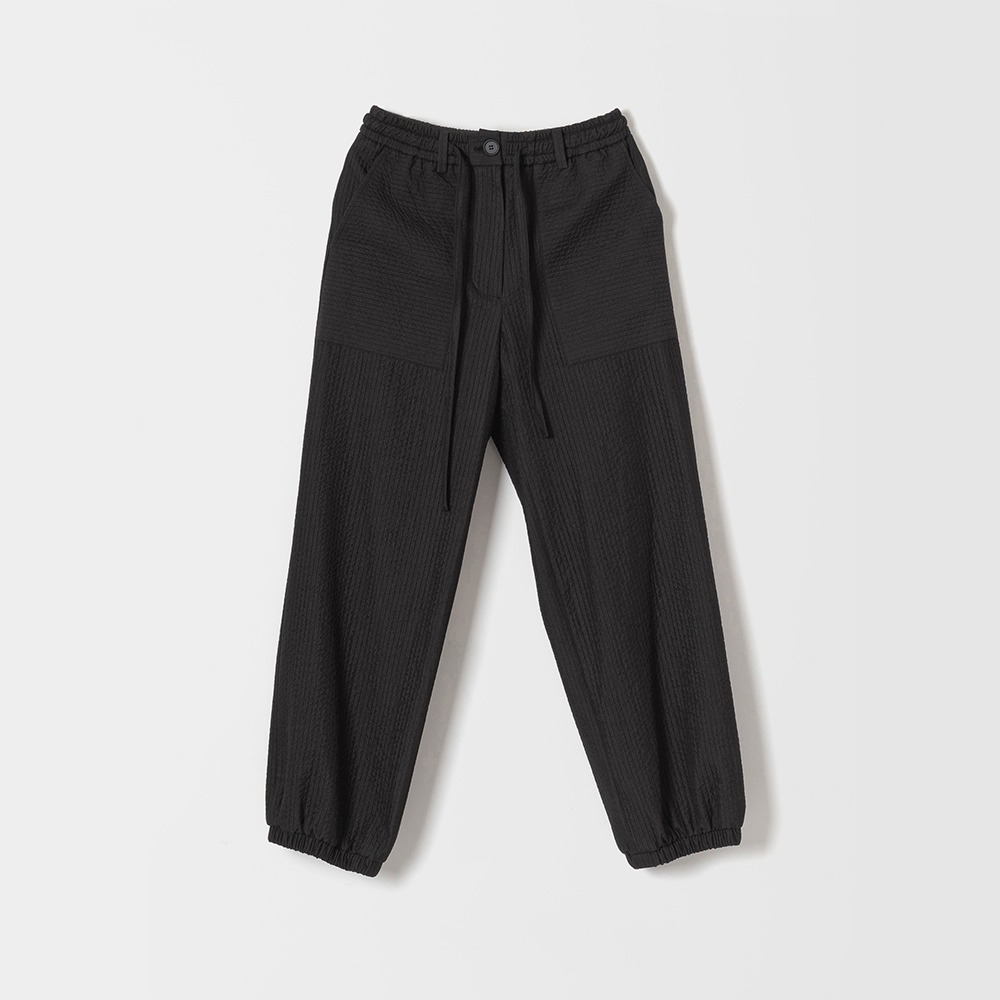 DONA DONAEasy Quilted Jogger Pants(Black)30% OFF