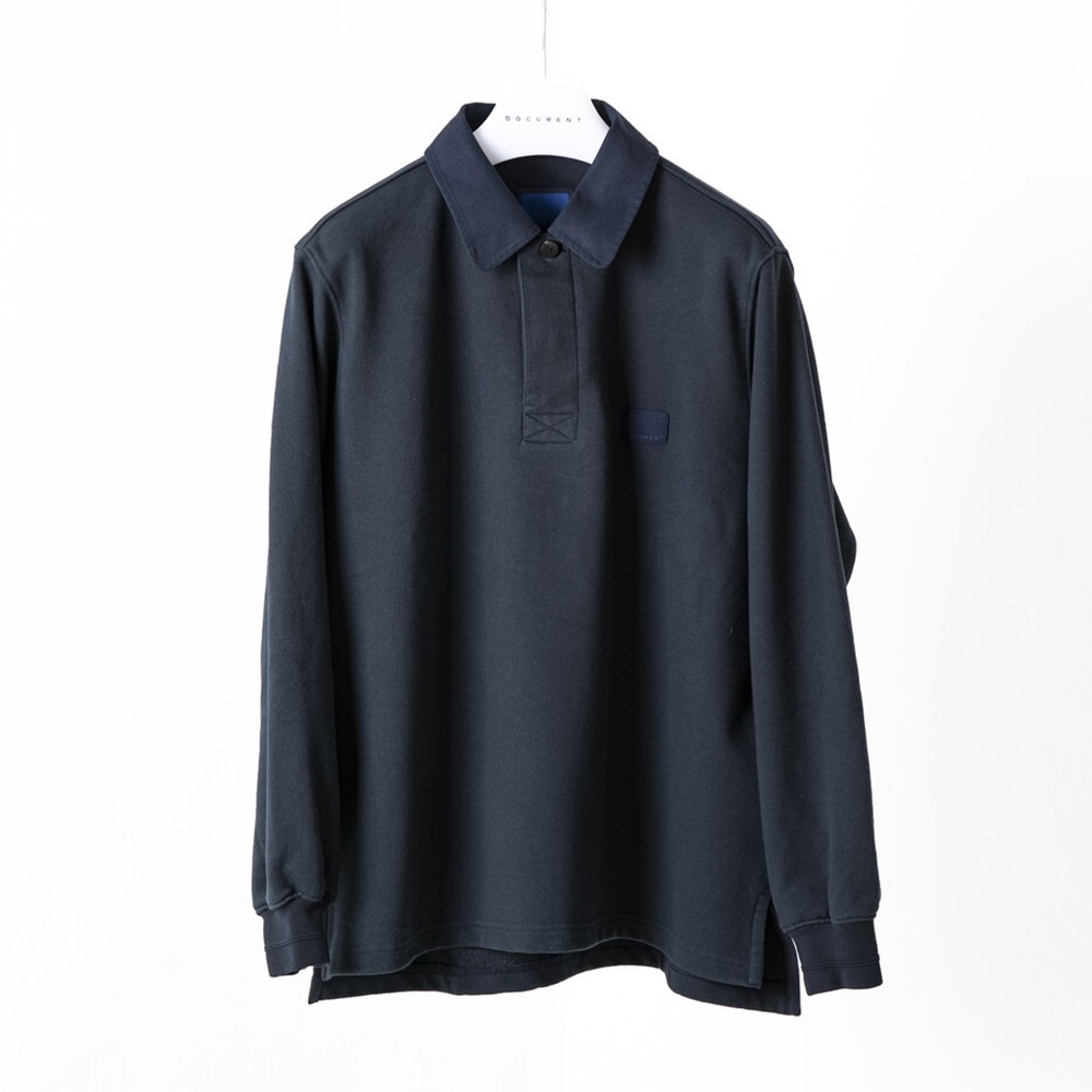 DOCUMENTThe COCUMENT Rugger Shirt(Navy)