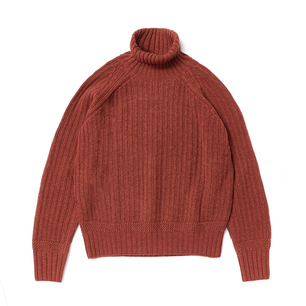 ESFAI X AMFEASTUnisex Fisherman Knit(Brick)30% OFF