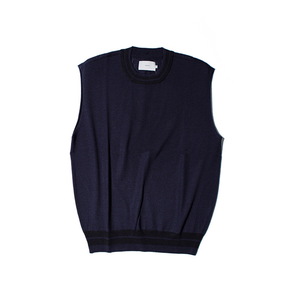 OUR SELVESUnlike Wool Knit Vest(Navy)