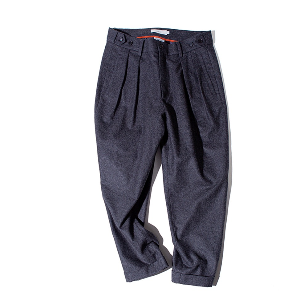 OUR SELVESFine Wool Tapered Slumber Pants(Charcoal)