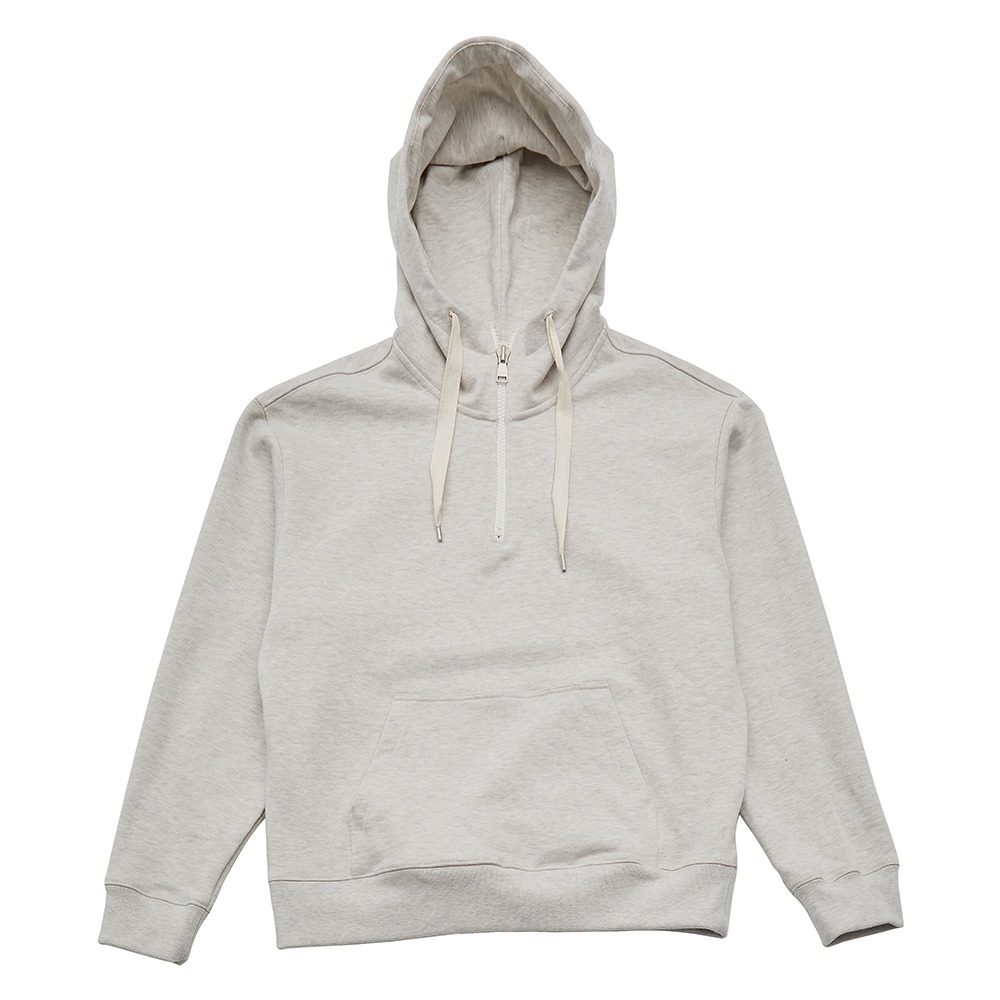 KEI CURRENTRE. Wind Sweat Zip Up Hoodie(Oatmeal)20% Off