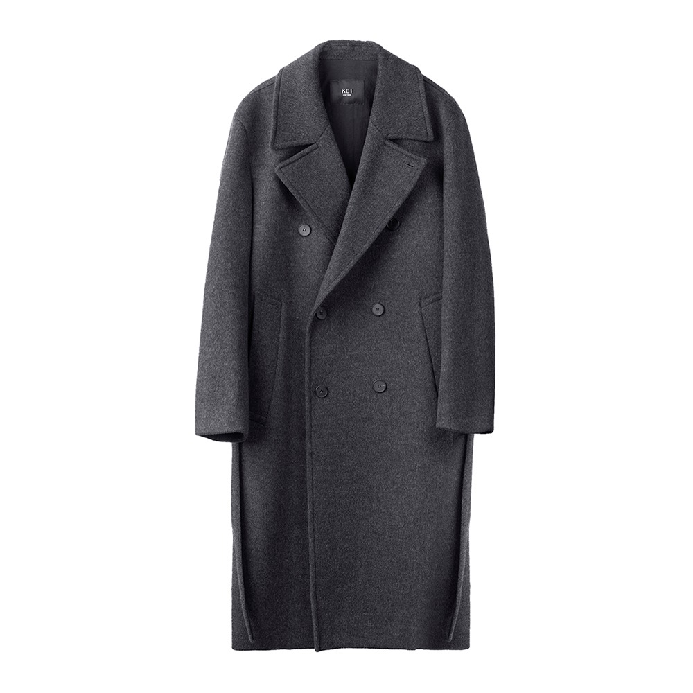 KEI CURRENTDoublur Coat(Charcoal Grey)30% Off