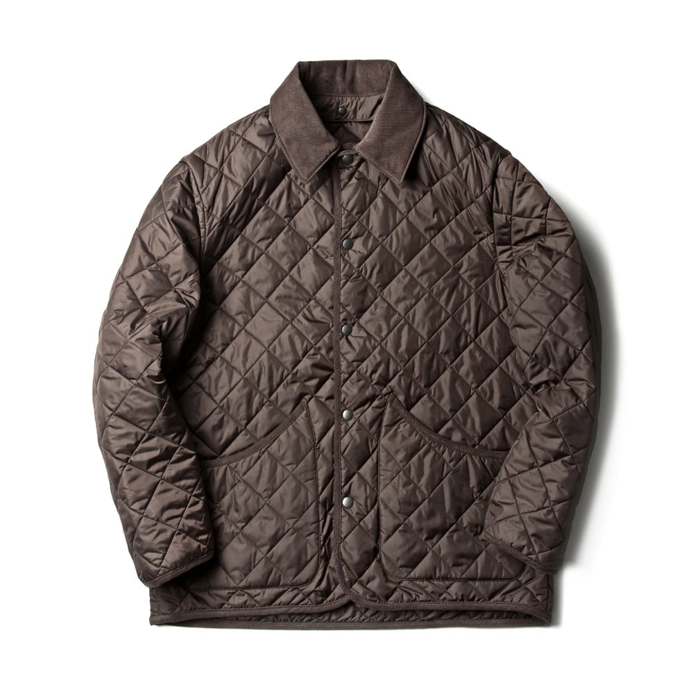 ESFAIDiamond Quilted Jacket(Brown)