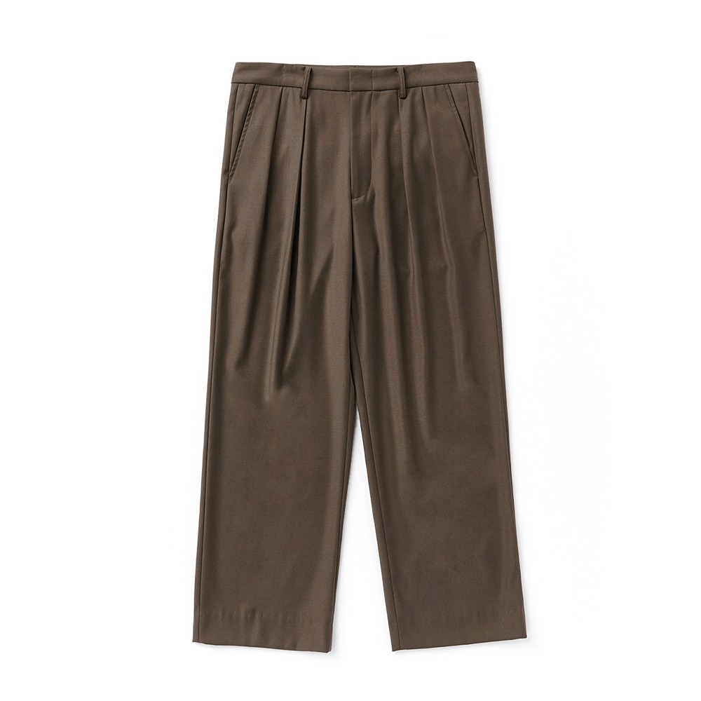 ESFAISO25 2 Tuck F Wide Pants(Brown)