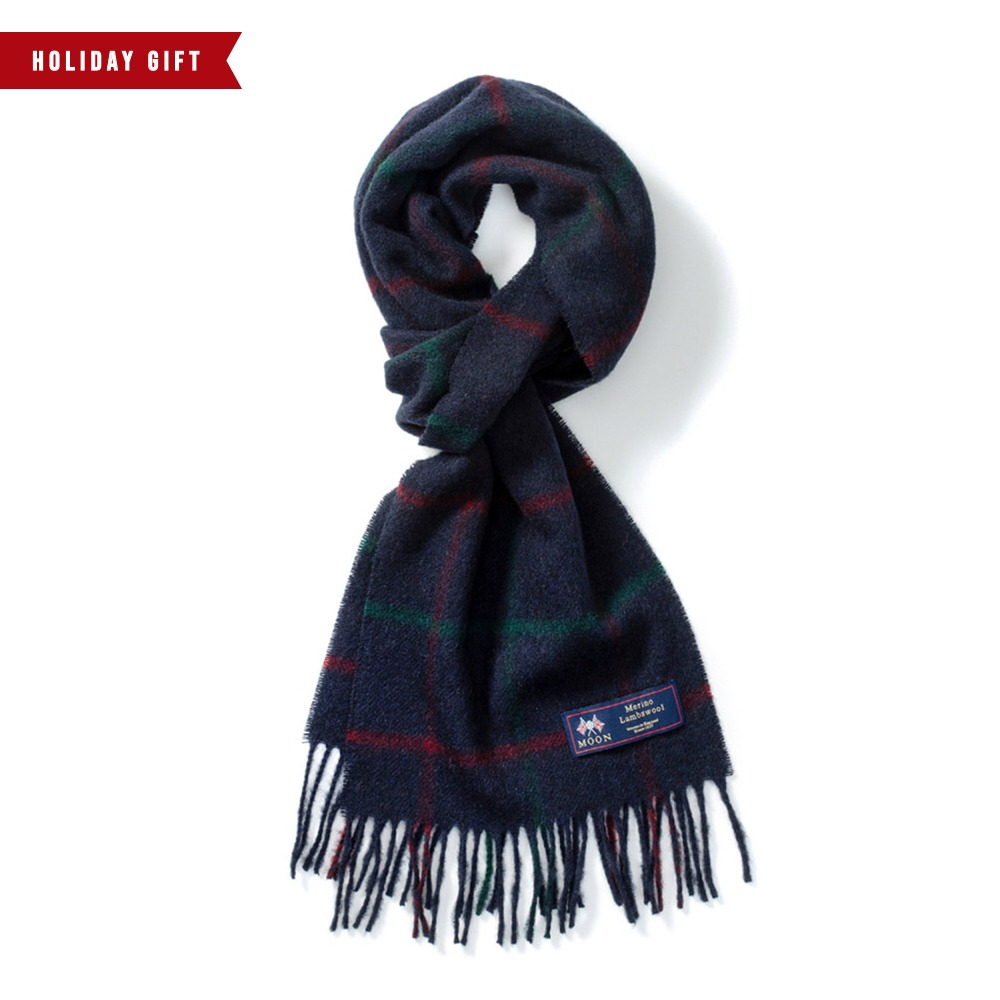 *2020 HOLIDAY GIFT GUIDE**RESTOCK*ABRAHAM MOONMerion Wool Muffller(Lincoln Navy)20% OFF