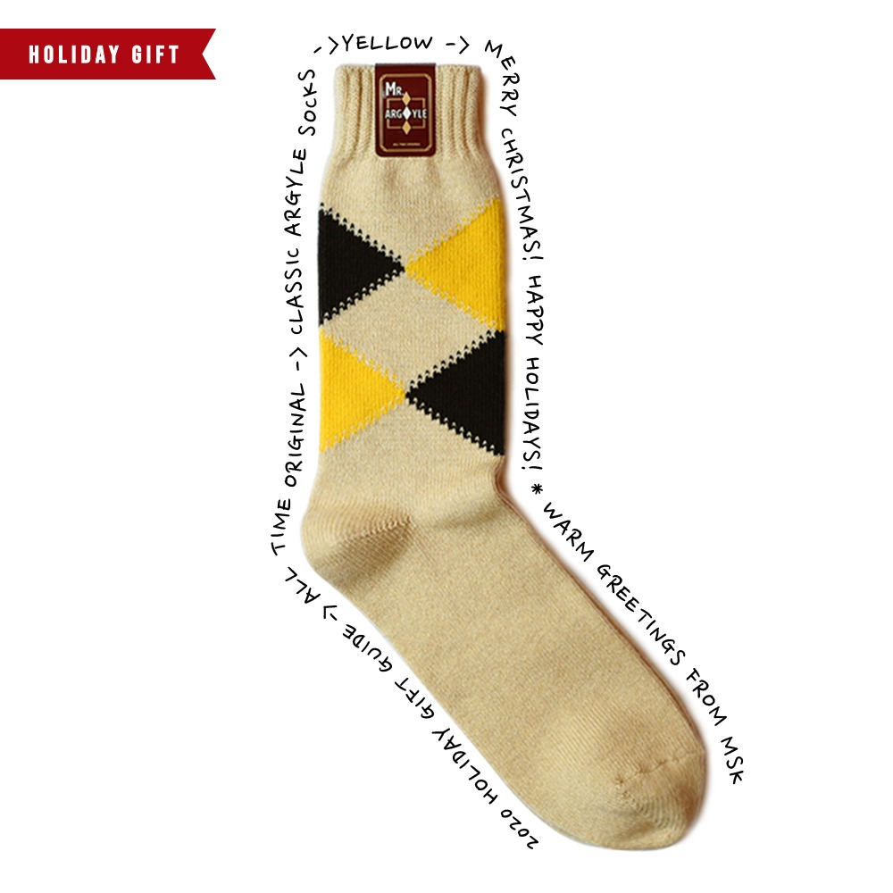 ALL TIME ORIGINALClassic Argyle Socks(Beige)